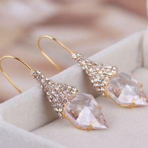 Alexis Bittar Earrings Swarovski Gold New